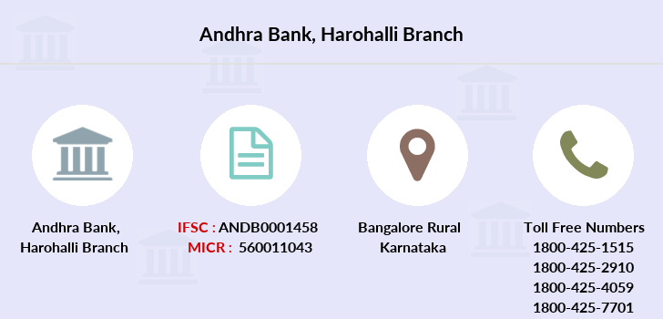 Andhra-bank Harohalli branch