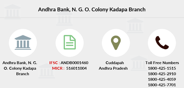 Andhra-bank N-g-o-colony-kadapa branch