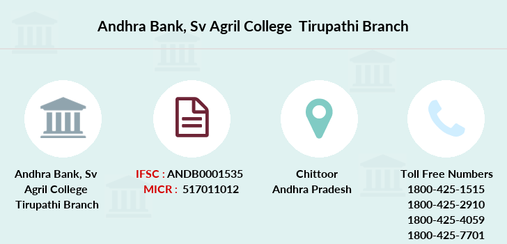 Andhra-bank Sv-agril-college-tirupathi branch