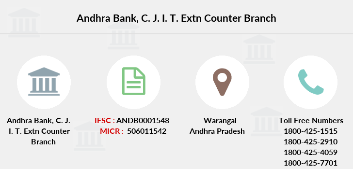 Andhra-bank C-j-i-t-extn-counter branch