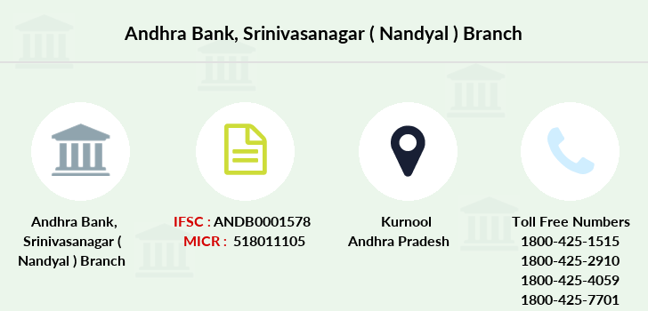 Andhra-bank Srinivasanagar-nandyal branch