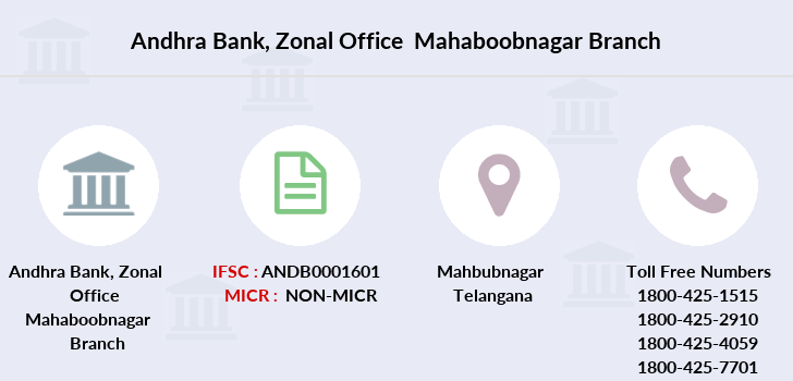 Andhra-bank Zonal-office-mahaboobnagar branch