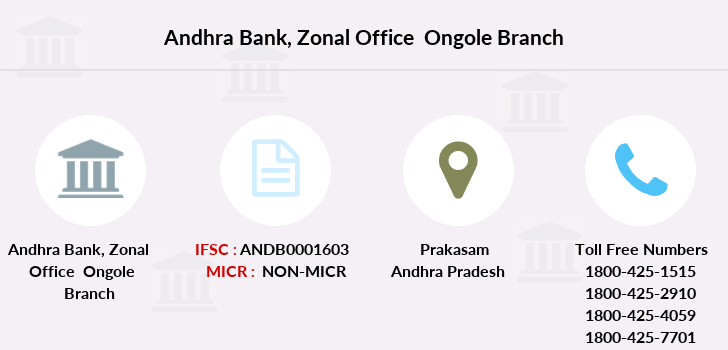 Andhra-bank Zonal-office-ongole branch