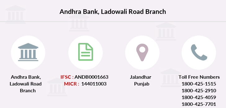 Andhra-bank Ladowali-road branch