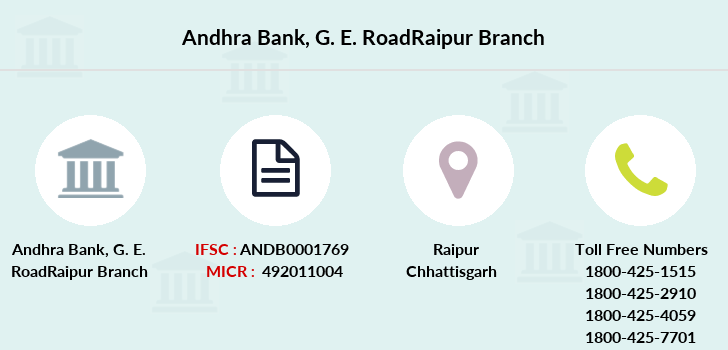 Andhra-bank G-e-roadraipur branch