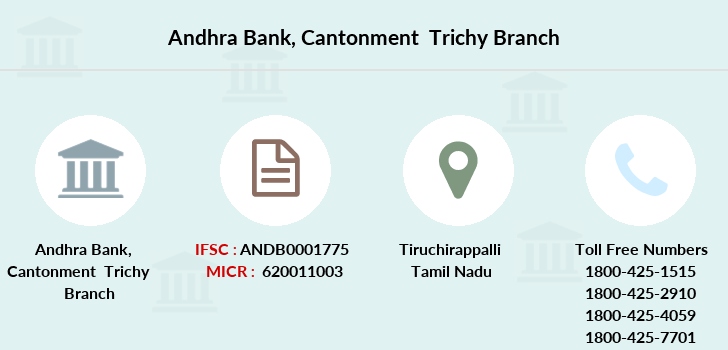 Andhra-bank Cantonment-trichy branch