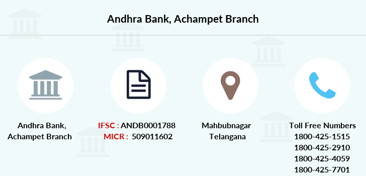 Andhra-bank Achampet branch