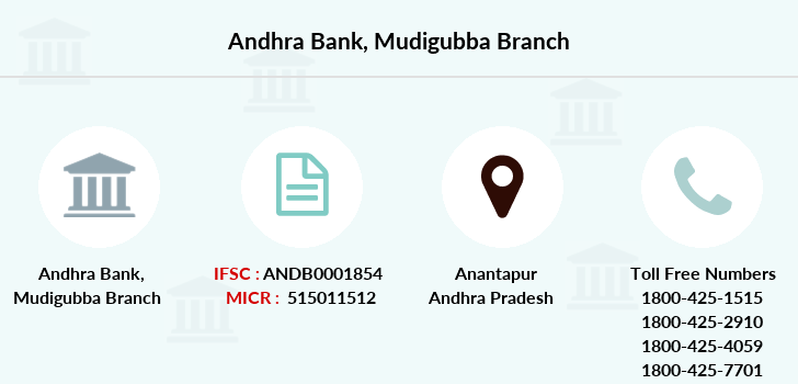 Andhra-bank Mudigubba branch