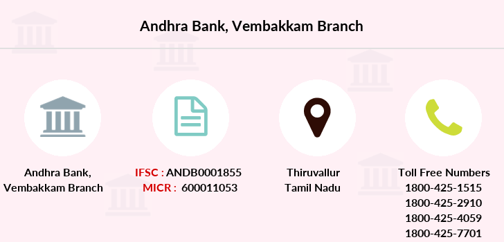 Andhra-bank Vembakkam branch