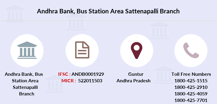 Andhra-bank Bus-station-area-sattenapalli branch