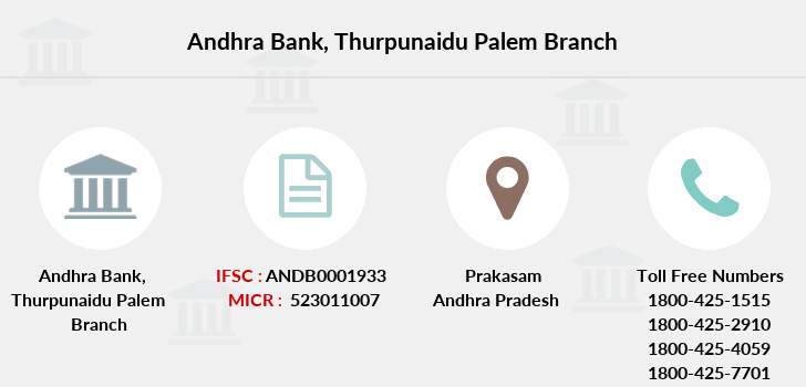 Andhra-bank Thurpunaidu-palem branch