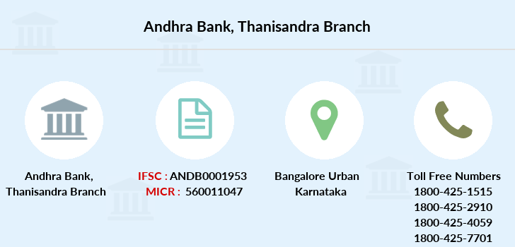 Andhra-bank Thanisandra branch