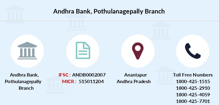 Andhra-bank Pothulanagepally branch