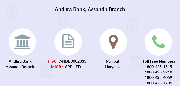 Andhra-bank Assandh branch