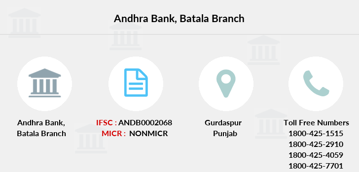 Andhra-bank Batala branch