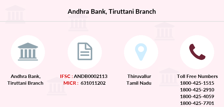 Andhra-bank Tiruttani branch