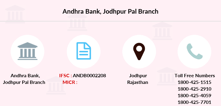 Andhra-bank Jodhpur-pal branch