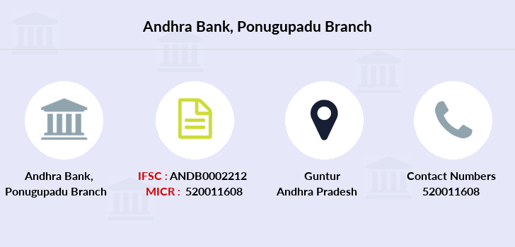 Andhra-bank Ponugupadu branch