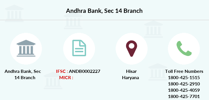 Andhra-bank Sec-14 branch