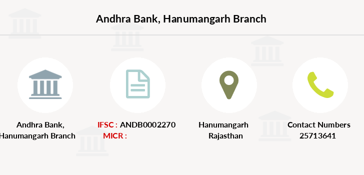 Andhra-bank Hanumangarh branch