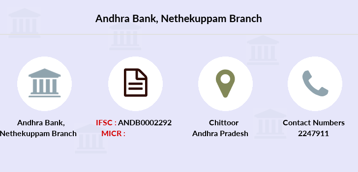 Andhra-bank Nethekuppam branch