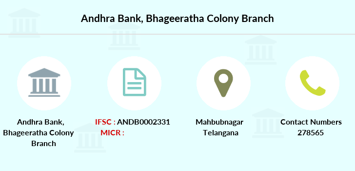 Andhra-bank Bhageeratha-colony branch