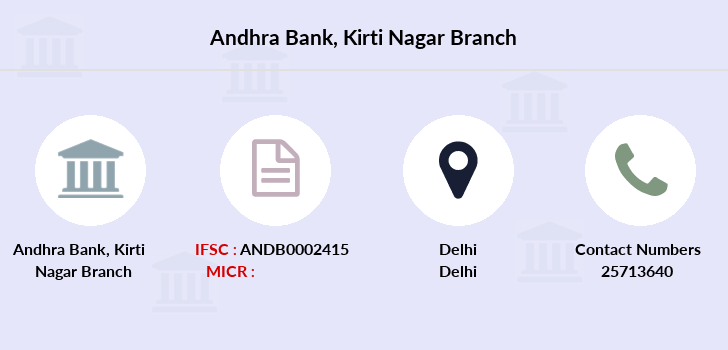 Andhra-bank Kirti-nagar branch