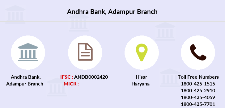 Andhra-bank Adampur branch