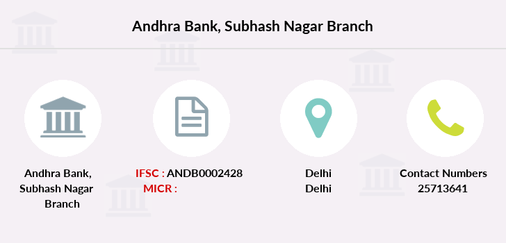 Andhra-bank Subhash-nagar branch