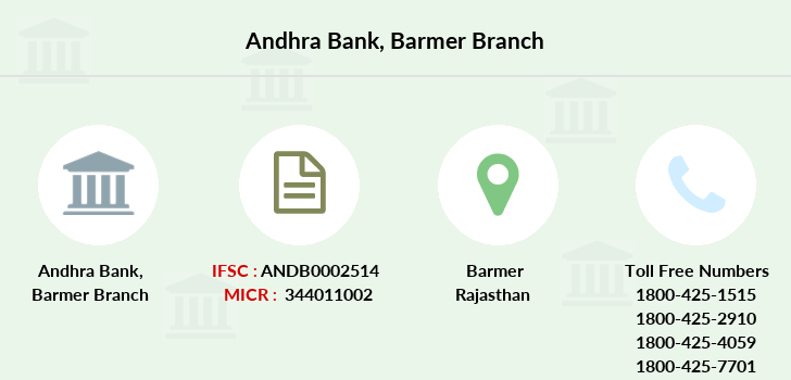 Andhra-bank Barmer branch