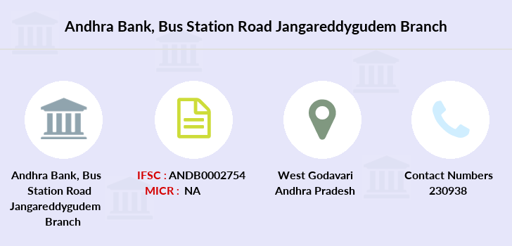 Andhra-bank Bus-station-road-jangareddygudem branch