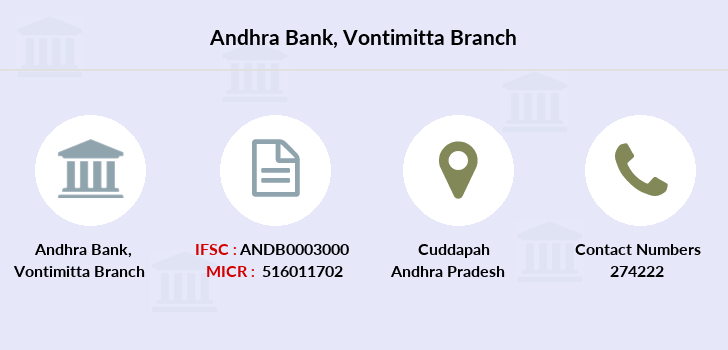 Andhra-bank Vontimitta branch