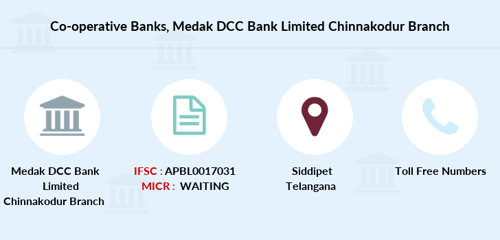Co-operative-banks Medak-dcc-bank-limited-chinnakodur branch