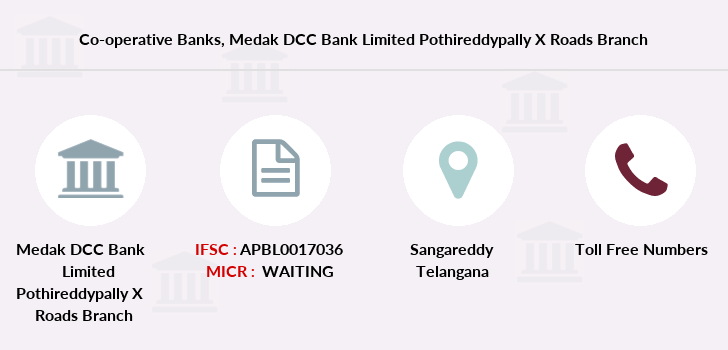Co-operative-banks Medak-dcc-bank-limited-pothireddypally-x-roads branch