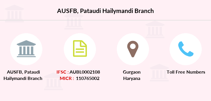 Au-small-finance-bank-limited Pataudi-hailymandi branch