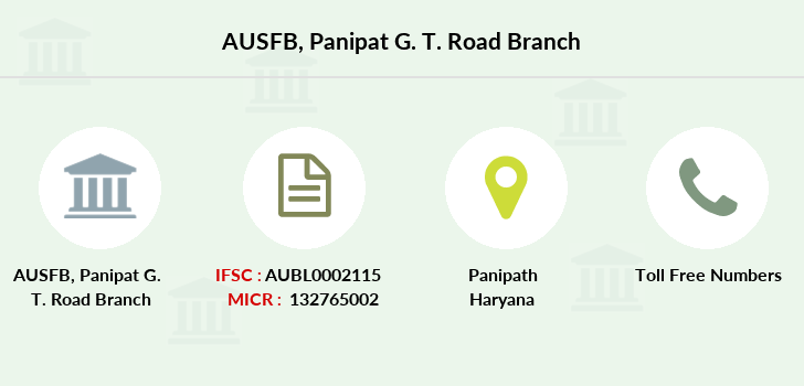 Au-small-finance-bank-limited Panipat-g-t-road branch