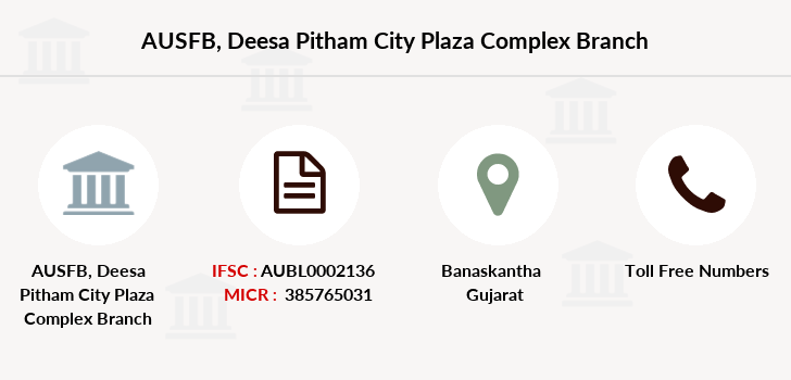 Au-small-finance-bank-limited Deesa-pitham-city-plaza-complex branch