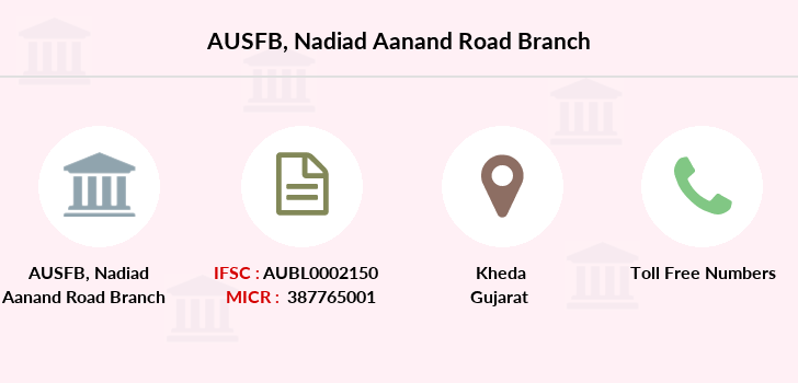 Au-small-finance-bank-limited Nadiad-aanand-road branch