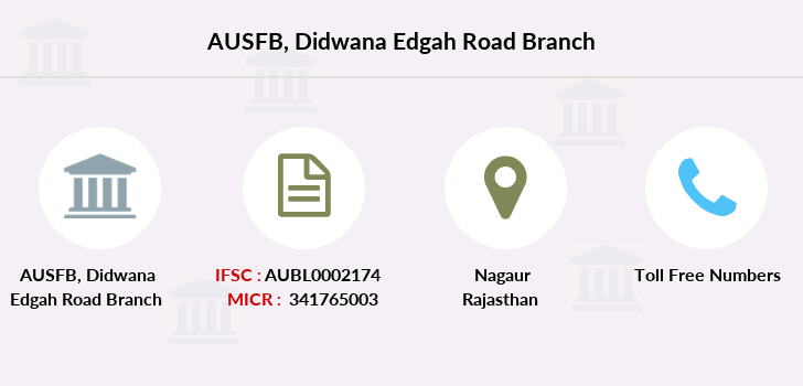 Au-small-finance-bank-limited Didwana-edgah-road branch