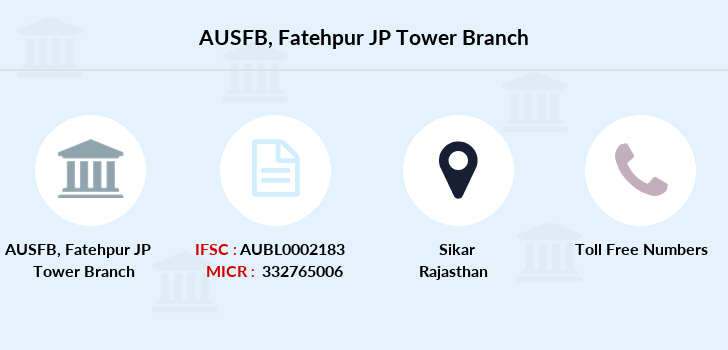 Au-small-finance-bank-limited Fatehpur-jp-tower branch