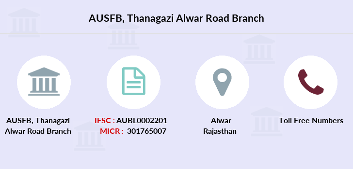 Au-small-finance-bank-limited Thanagazi-alwar-road branch