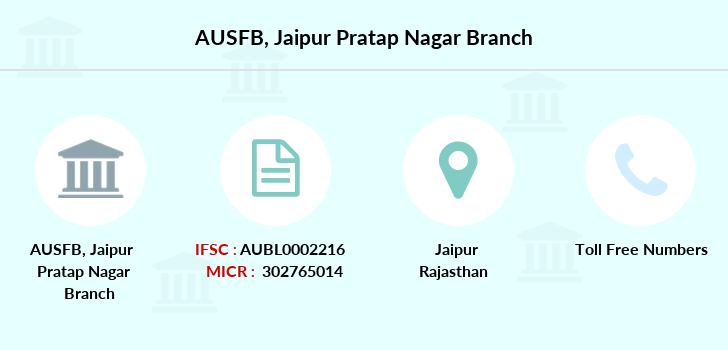 Au-small-finance-bank-limited Jaipur-pratap-nagar branch