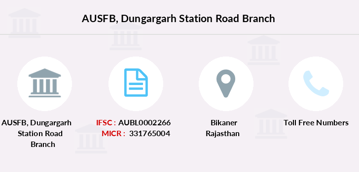 Au-small-finance-bank-limited Dungargarh-station-road branch