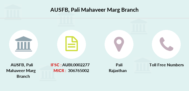 Au-small-finance-bank-limited Pali-mahaveer-marg branch