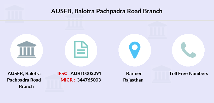 Au-small-finance-bank-limited Balotra-pachpadra-road branch