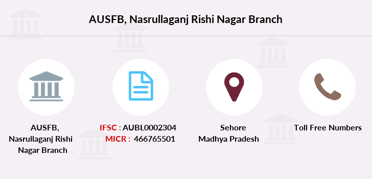 Au-small-finance-bank-limited Nasrullaganj-rishi-nagar branch