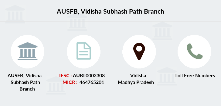 Au-small-finance-bank-limited Vidisha-subhash-path branch