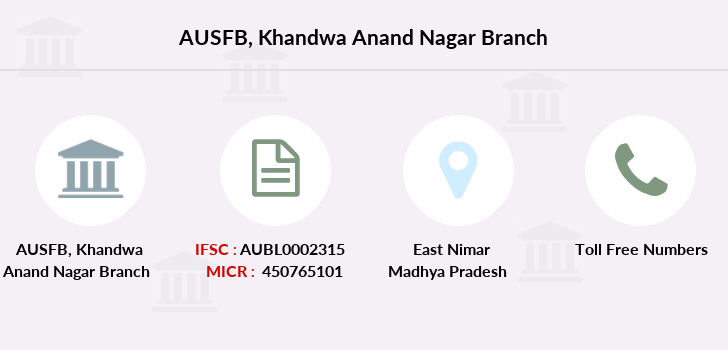 Au-small-finance-bank-limited Khandwa-anand-nagar branch