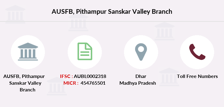 Au-small-finance-bank-limited Pithampur-sanskar-valley branch