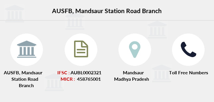 Au-small-finance-bank-limited Mandsaur-station-road branch